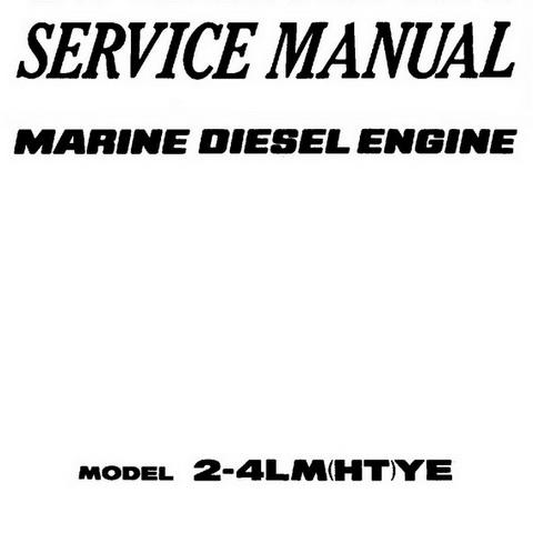 Yanmar L48EE, L7OEE, L100EE Models Industrial Diesel E