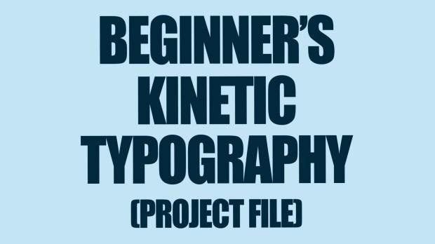 beginner s kinetic typography