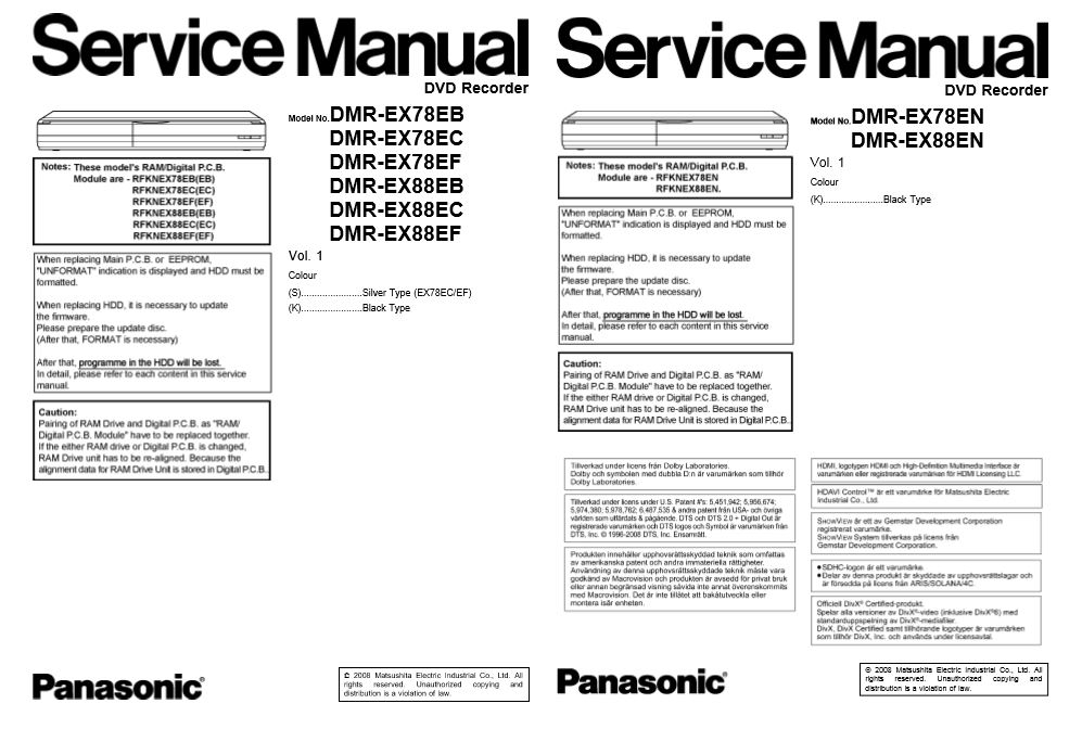 Panasonic EP 30002 EP30002 Service Manual and Troubles