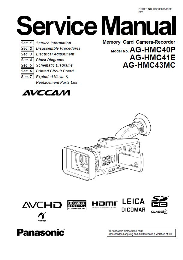 Panasonic DMR BW880 BW780 Service Manual and Repair In