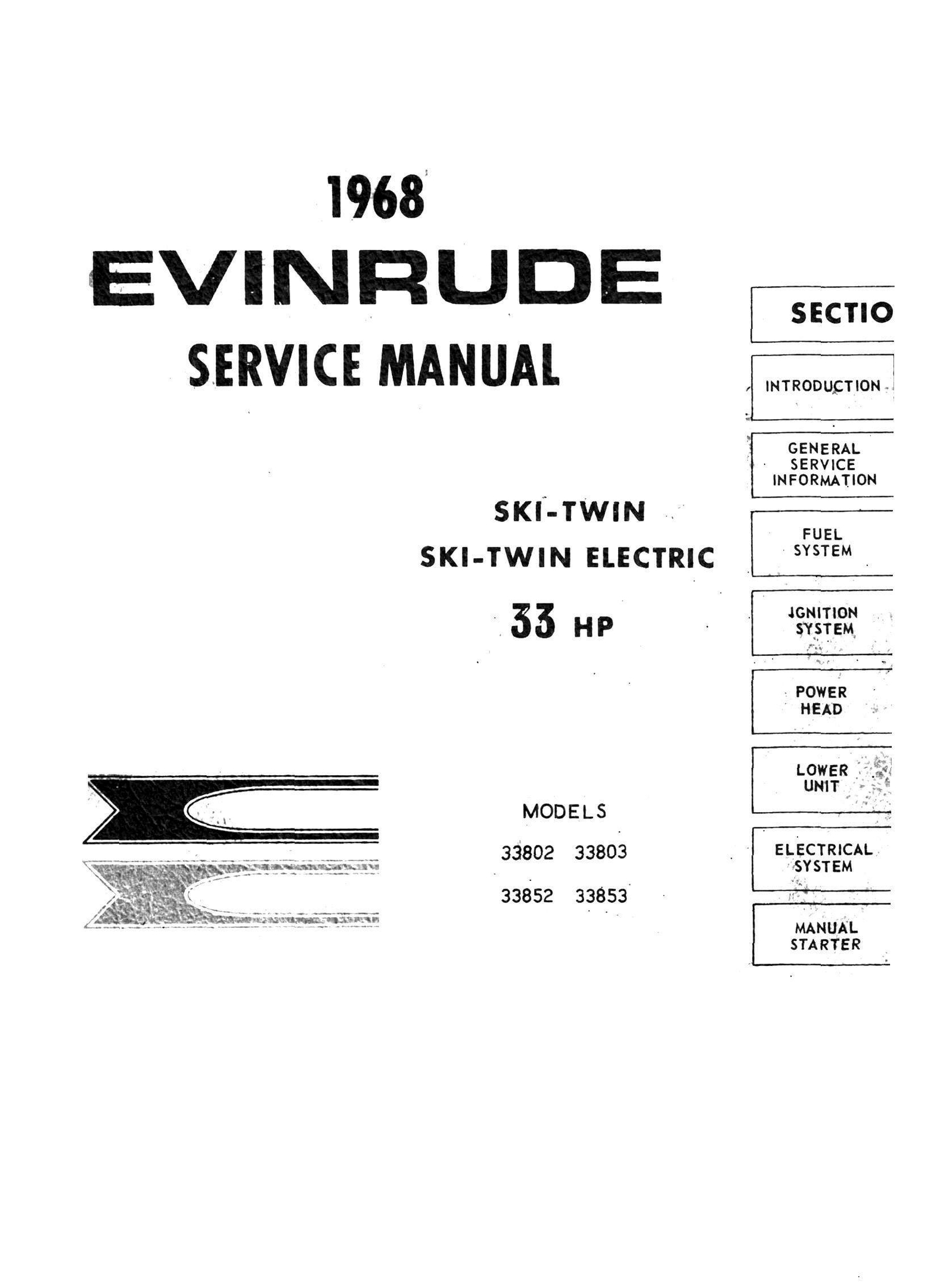 bosch dynastart wiring diagram how to do a flow villiers siba manuals for mechanics evinrude 33 hp ski twin 338 series 1968 service and repair manual