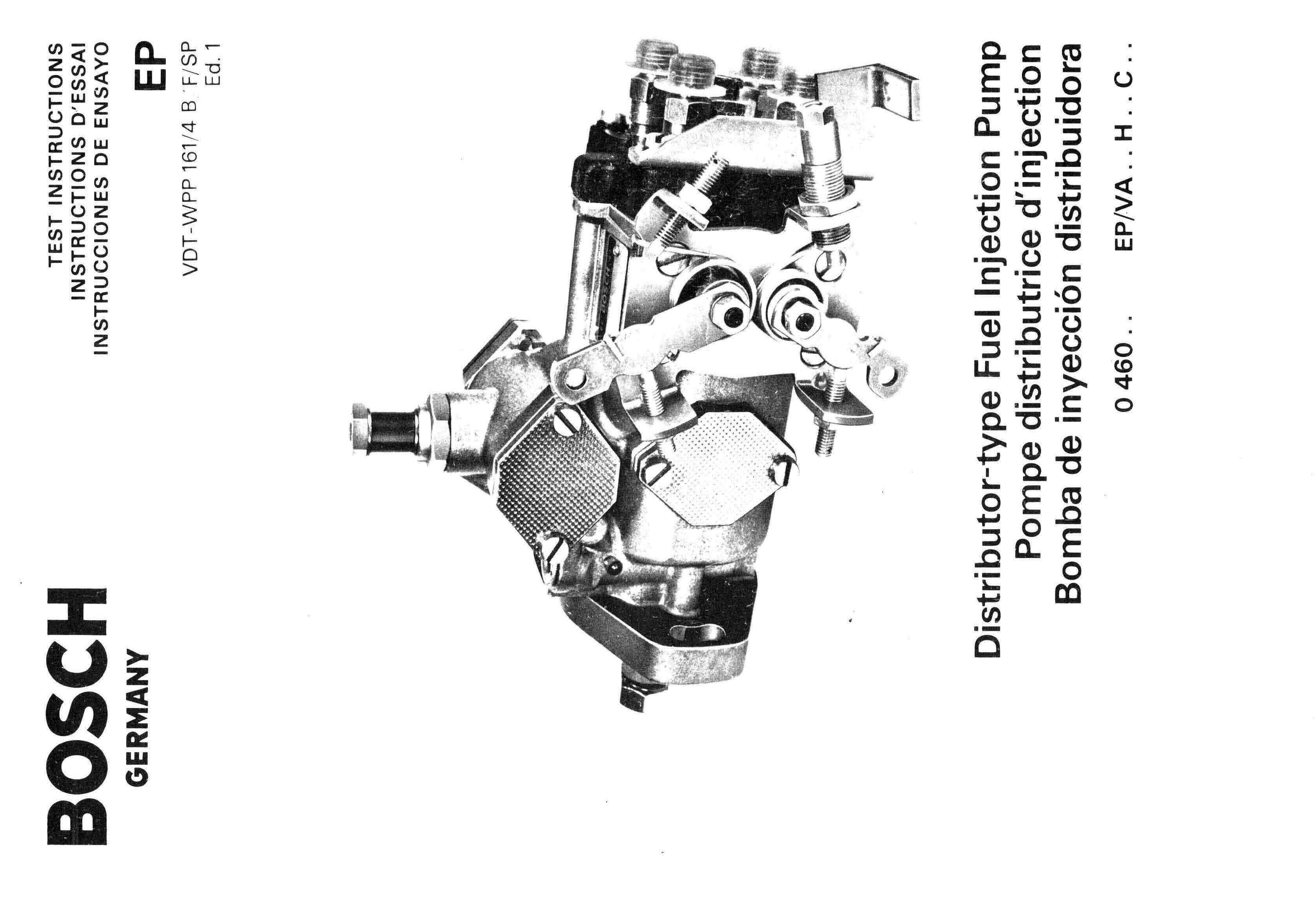 Boschsel Fuel Pump Manuals For Mechanics
