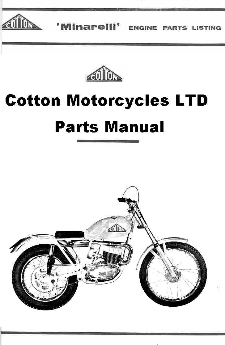 Cotton Motorcycles Manuals By The Manual Man © 2116
