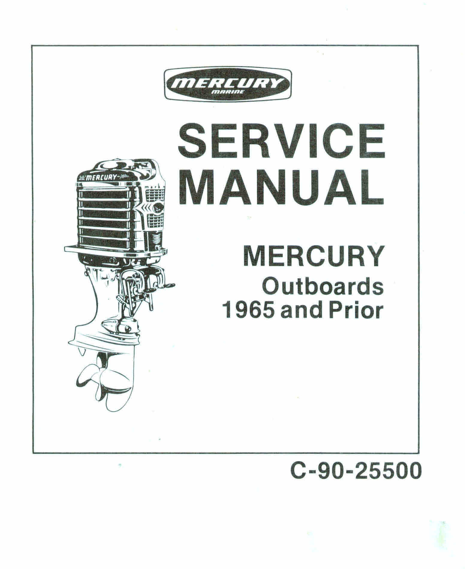 Mercury & Mariner Vintage Service Manuals for Mechanic