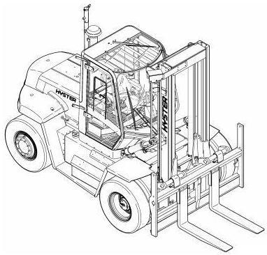 Linde H50, H60, H70, H80 D/T Diesel/LPG Forklift Truck