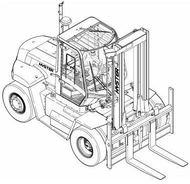 Linde H40D, H45D, H50D, H40T, H45T, H50T Forklift Truc