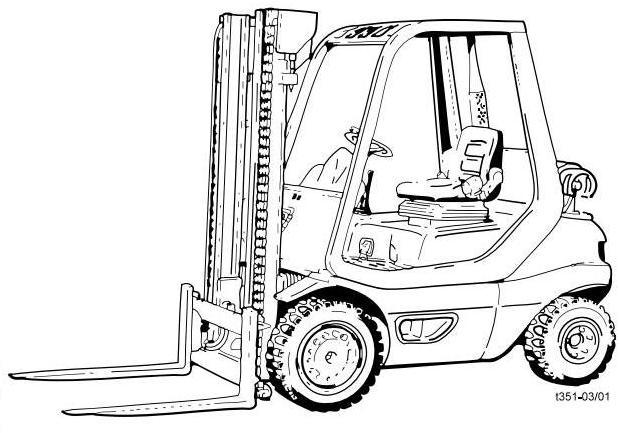 Hyster H45XM, H50XM, H55XM, H60XM, H65XM Forklift Truc