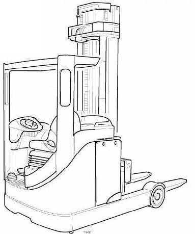Hyster H800E, H880E, H970E, H1050E USA Diesel Forklift