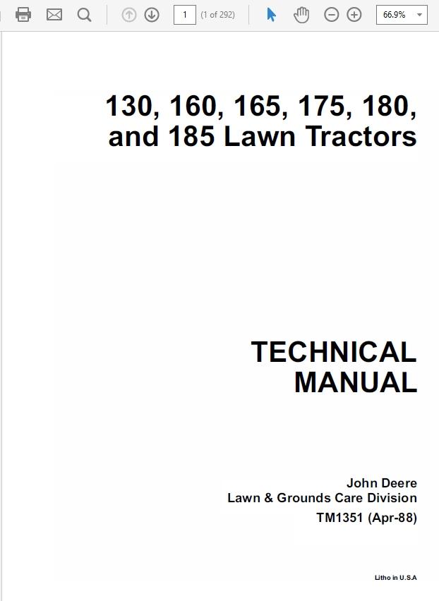 John Deere LX172, LX173, LX176, LX178, LX186, LX188 L