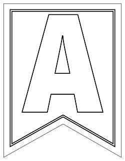 Free Large Swallowtail Printable Alphabet Banner Lette Printable Party Com