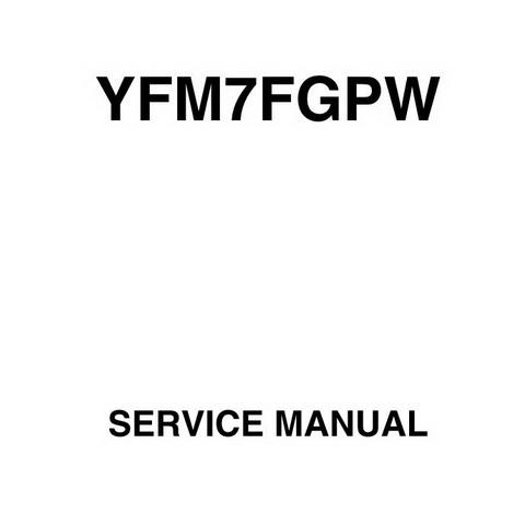 YFM7FGPW Yamaha Grizzly YFM 700 2007 Service Manual Other
