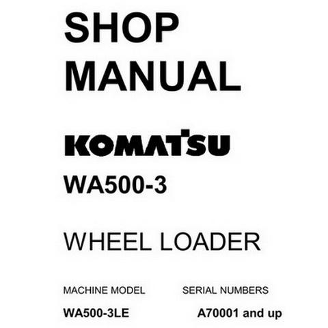 Komatsu WA320-7 Wheel Loader Service Repair Shop Manua