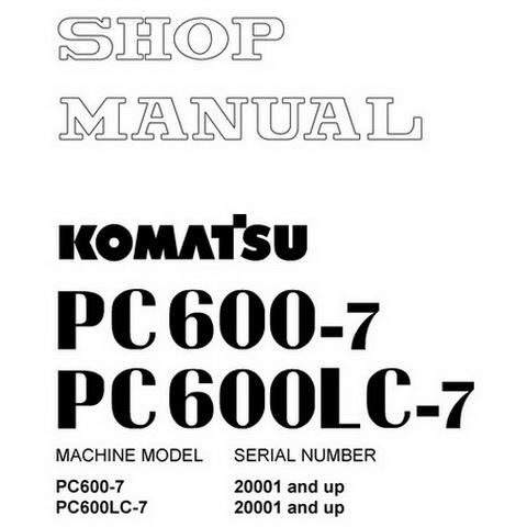 Komatsu PW180-7E0 Hydraulic Excavator Operation & Main