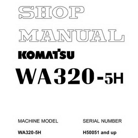 Komatsu WA600-6 Galeo Wheel Loader Service Repair Shop