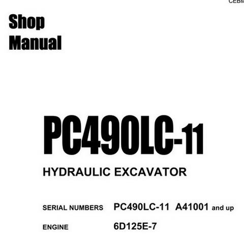 Komatsu PC750-7, PC800-7 Hydraulic Excavator Service R