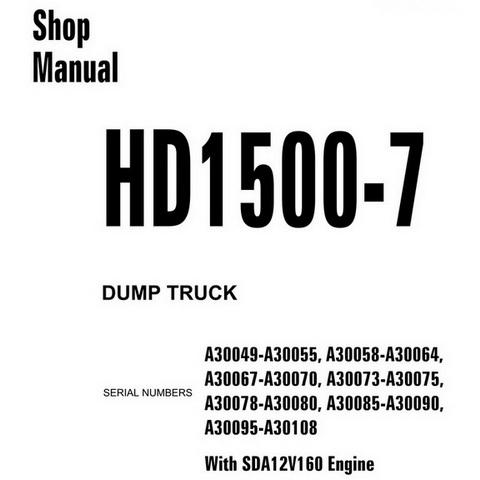 Komatsu PC8000E-6 Hydraulic Excavator Service Repair S