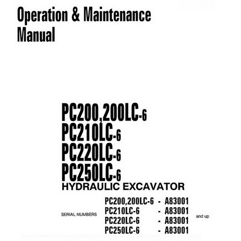 Komatsu PC20R-8, PC27R-8 Hydraulic Excavator Operation
