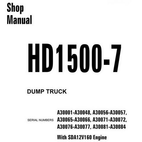 Komatsu WA470-5H, WA480-5H Wheel Loader Service Repair