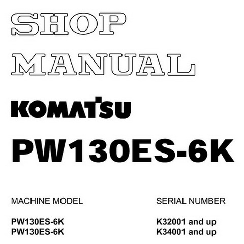Komatsu WA500-3 Wheel Loader Service Repair Shop Manua