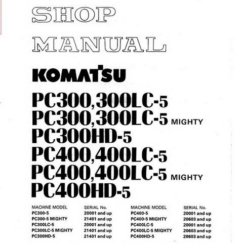 Komatsu PC05-6F Hydraulic Excavator Parts Book (F10001