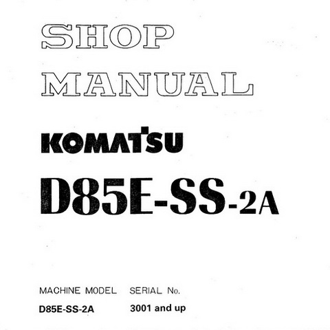 Komatsu D155AX-5 Bulldozer (70001 and up) Service Repa