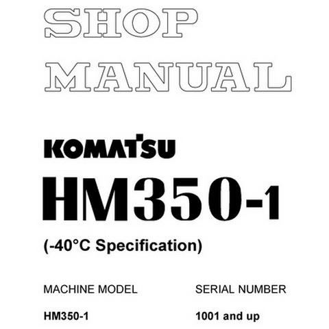 Komatsu D275A-5R Bulldozer (35001 and up) Field Assemb