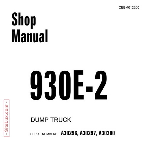 Komatsu HD465-7, HD605-7 Galeo Dump Truck OM Manual (7
