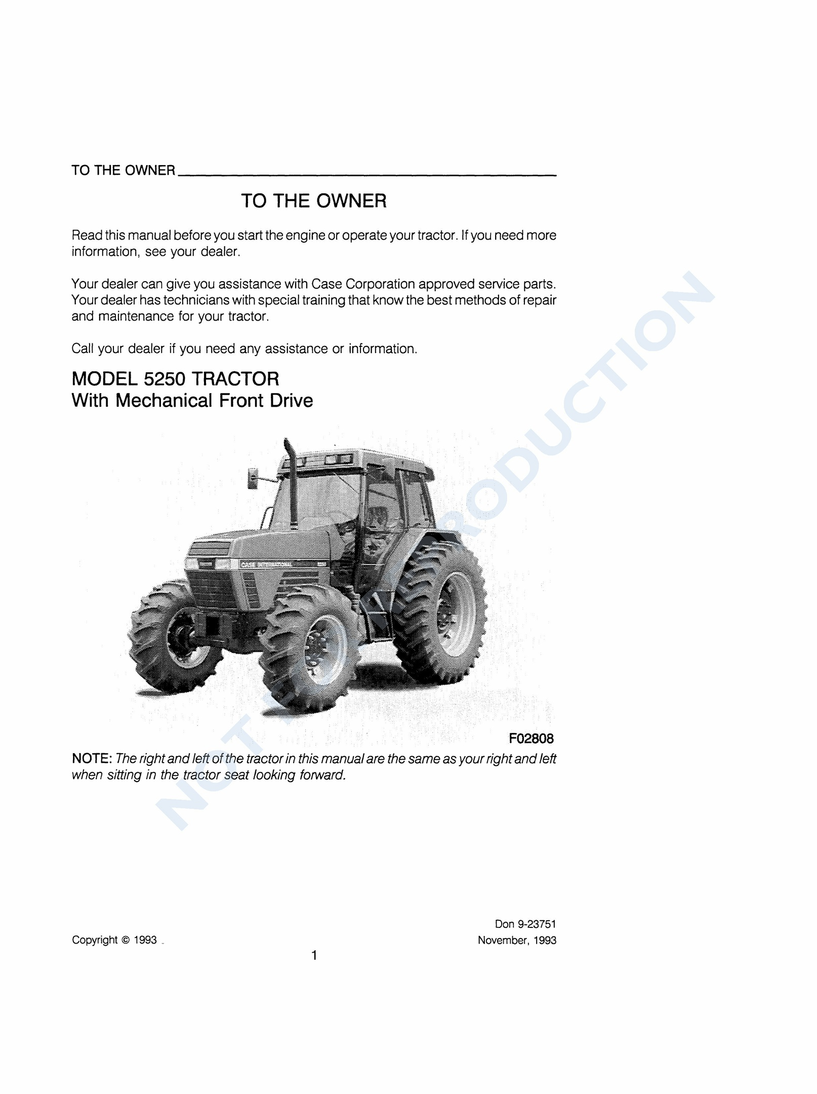 hight resolution of case ih 5250 service manual basic instruction manual u2022 rh ryanshtuff co 1206 ih tractor wiring