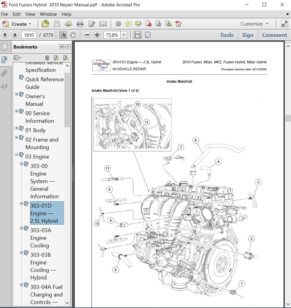 small resolution of ford fusion hybrid 2010 repair manual autoservicerepair 2003 ford escape engine diagram 2010 ford fusion hybrid
