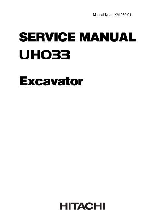 Komatsu Shop Manual PC50UU-2 8001 and up Hydraulic Exc