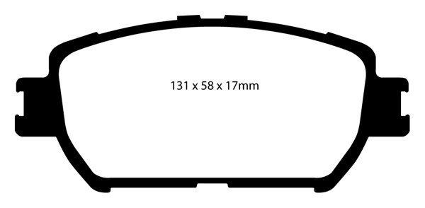 DP31642C EBC Brakes Тормозные колодки LEXUS GS300