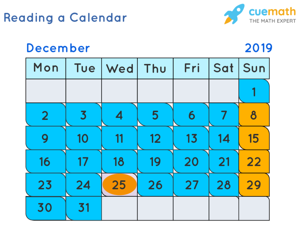medium resolution of Reading a Calendar   Days of week   Solved Examples
