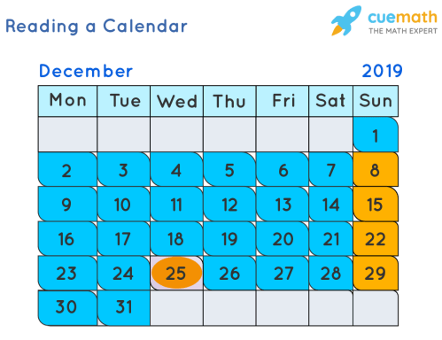 small resolution of Reading a Calendar   Days of week   Solved Examples