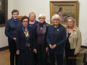 Hallitus 2014-2015, vasemmalta Marja-Liisa Martti, Marja-Leena Ilmonen, Kristiina Kuusela, Raija Uhari, Marja-Liisa Liusvaara, Aila Rantanen