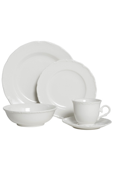 CASA DOMANI Casual White Florence Dinner Set 20 Piece Gift