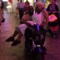 Wheelchair Fight Chair Covers For Birthday Party Jon Jones Joyrides Electric Down Vegas Strip