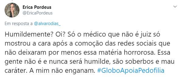 Internautas acusaram Globo de promover a pedofilia e valores distorcidos