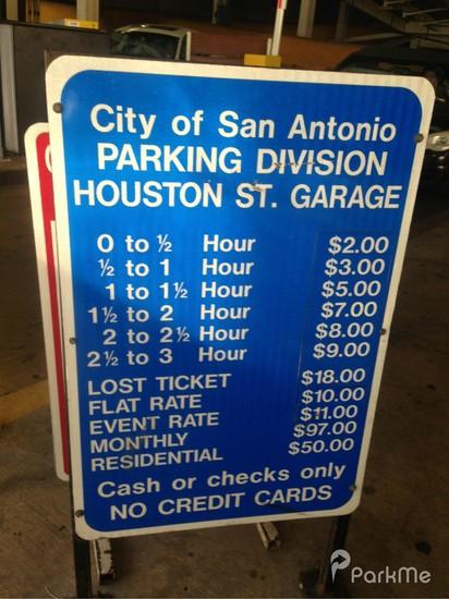 Houston Street Garage  Parking in San Antonio  ParkMe