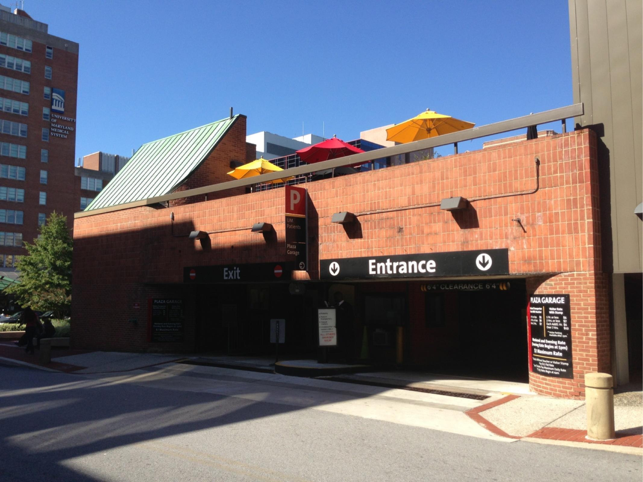 Plaza Garage  Parking in Baltimore  ParkMe
