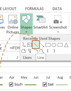 Insert shapes also interactive excel charts  my online training hub rh myonlinetraininghub