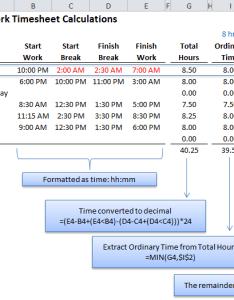 Excel calculate overtime also time calculation tricks  my online training hub rh myonlinetraininghub