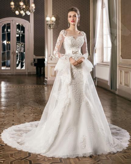 Zussa Classic Satin Wedding dress White | Devotiondresses.com