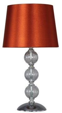 Crackle Glass Ball Table Lamp Terracotta