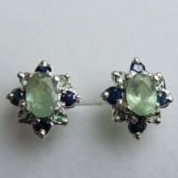 1.15ct Natural Alexandrite &sapphire Sterling 925 silver ...