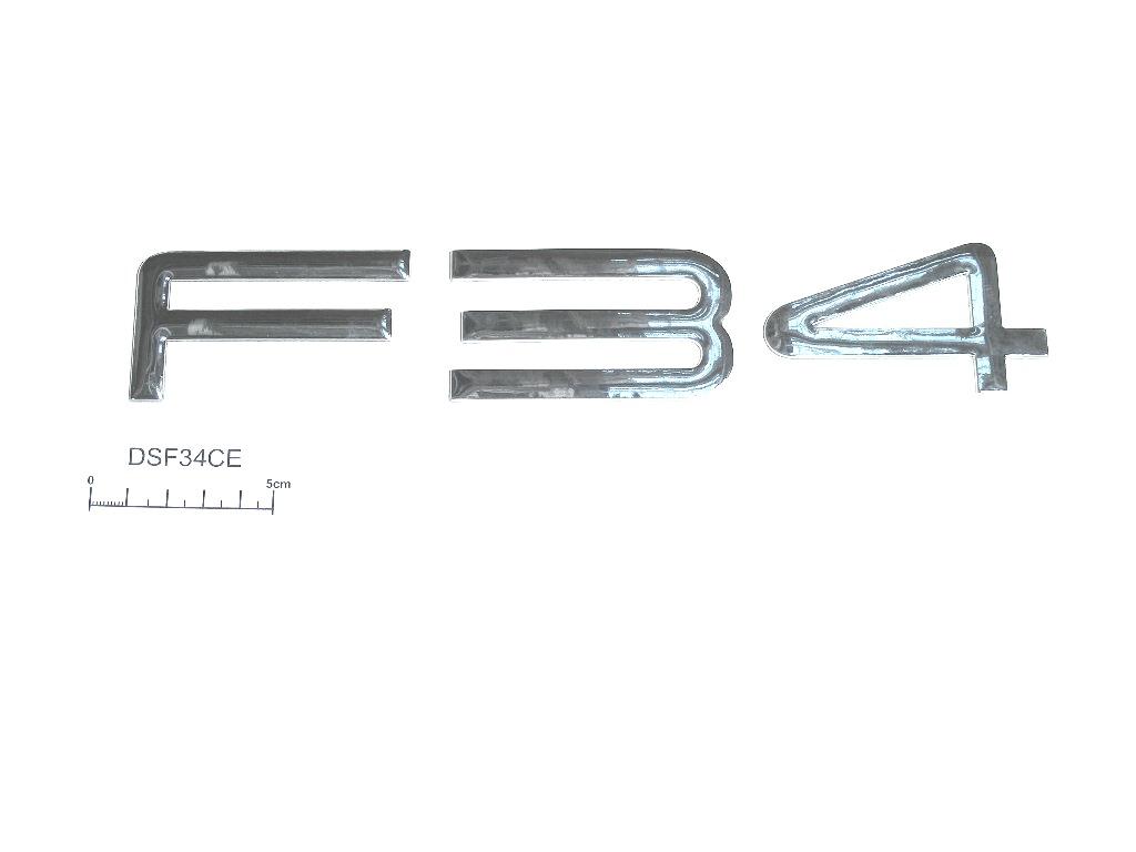 Decal F34 raised chrome