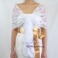 Bridal Lace Wrap Stole, White Lace Shawl, Bridal Silk Lace ...