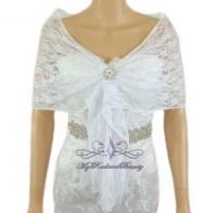 Bridal White Lace Evening Wrap Shawl, Wedding Scarf