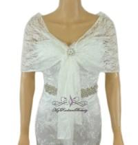 Bridal Lace Wrap Stole, Ivory Lace Shawl, Bridal Silk Lace ...