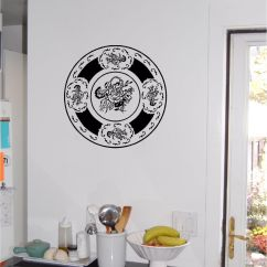 Decorative Kitchen Plates For Wall Decorations Counters Plate Sticker Art Decor Vinyl