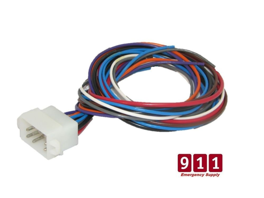 medium resolution of whelen power harness plug cable 12 pin 295hf100 whelen 295hf100 wiring harness
